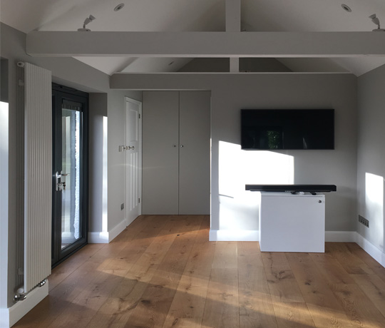 Featured image of article: Completion of our studio extension in Surrey